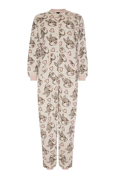 Bambi Thumper Onesie señoras/niñas todo en uno traje de dormir Pijama Disfraz de Festival