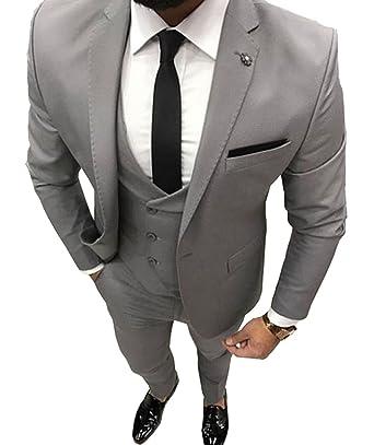 6ced72bb57b Amazon.com: Fitty Lell Men's Suit Double Breasted Vest Men Suit Slim ...