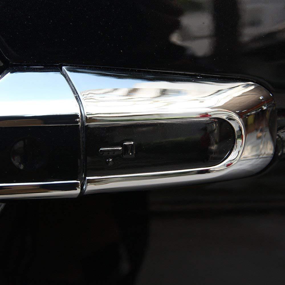 per RR sport 2014-2017 8 pezzi//set per scoperta Sport 2015-2017 Car Chrome Coperchio maniglia per portiere Finitura ABS plastica opaca argento Accessorio esterno per auto per RR Evoque 2012-2017