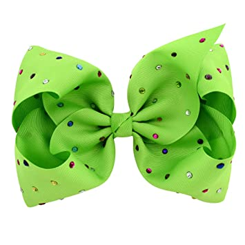 8697c8cf85587 Amazon.com: Simdoc Baby Girls Hair Bow Bright Candy Color Large ...
