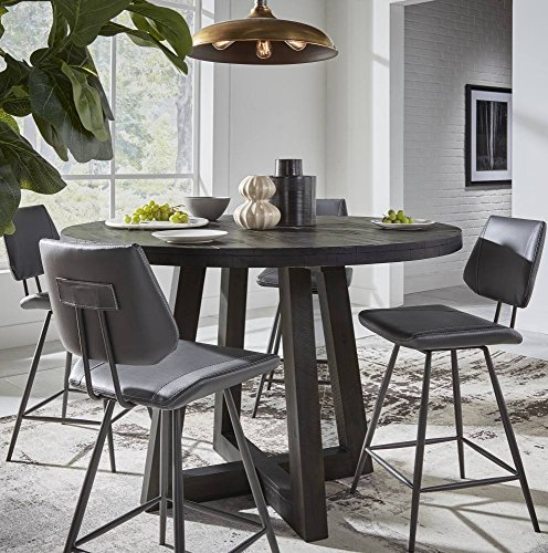 - Modus Furniture 9K2062O Solid Wood Round Counter-Height Table, Antique Coffee