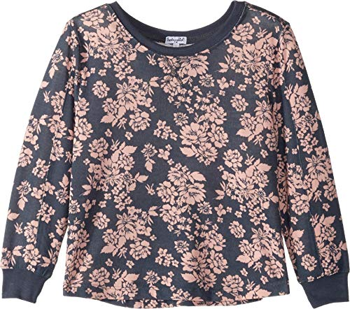 Splendid Big Girls' Kids and Baby Long Sleeve Pullover Sweater, Floral Ombre Blue, - Pullover Sleeve Long Girls