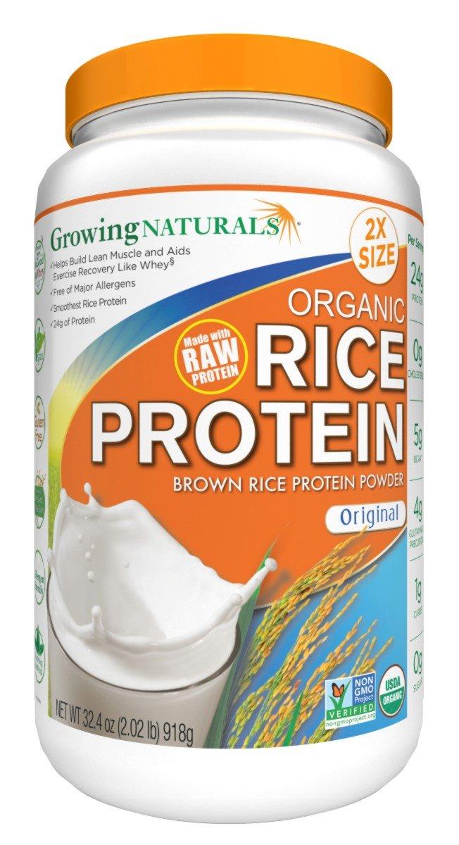 Growing Naturals Organic Rice Protein Powder, Original, 32.4 Ounce