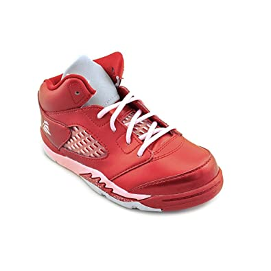 pretty nice dbee1 e98bb Jordan Nike Air 5 Retro (GS) Valentines Day Girls Basketball Shoes  440892-605 Gym Red 5 M US