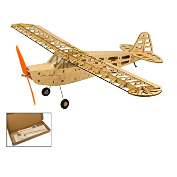 Amazoncom Balsa Wood Airplane Kits Piper Cub J3 Fly Aircraft 37