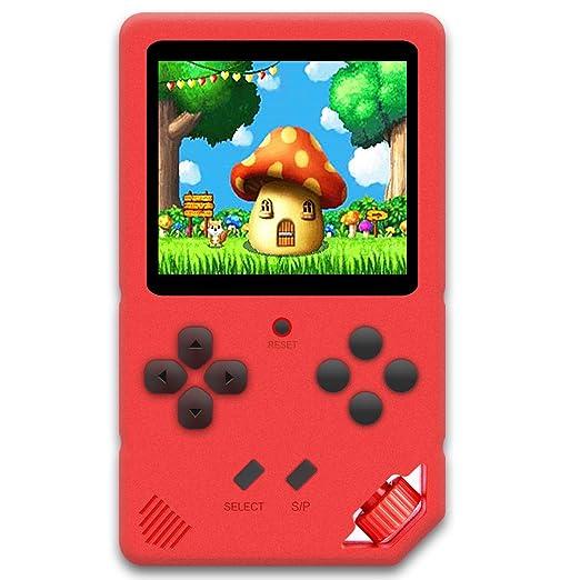 ZHISHAN Consola de Juegos Portátil para Niños Videojuego Preinstalado 220 HD de 16 bits Sistema de Juego Educativo Recargable Pantalla de 3,0 Pulgadas ...