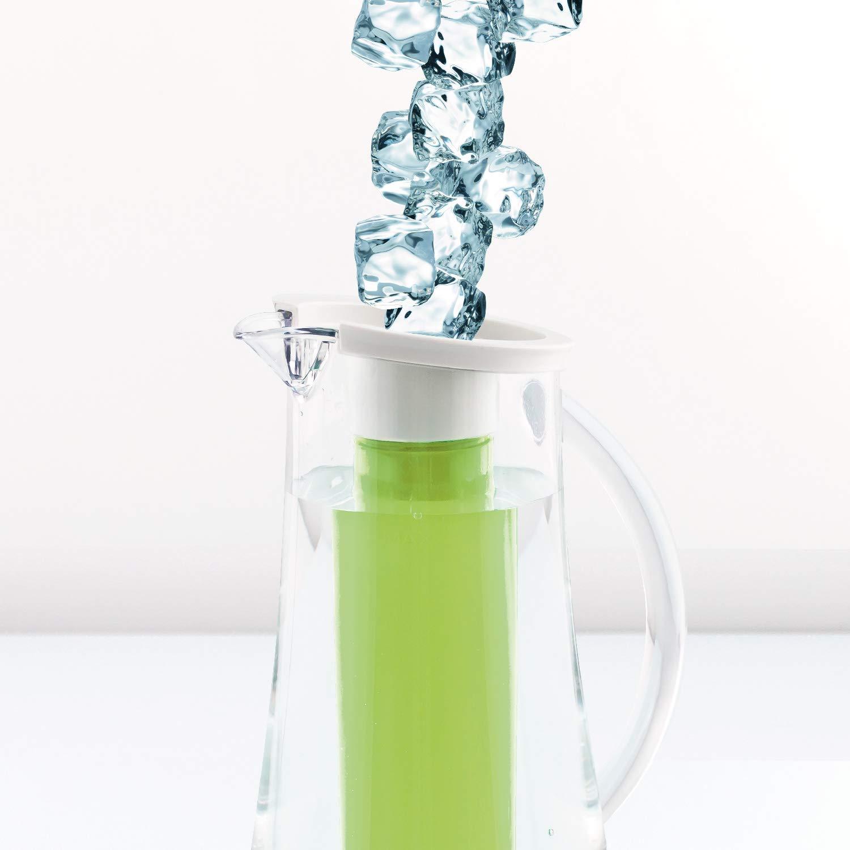 Rose bremermann Carafe de Refroidissement Carafe /à Eau 2,4 litres avec Tige de Refroidissement et infuseur