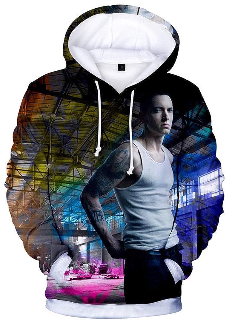 Silver Basic Boys Novelty Hoodies Inspired by Eminem 3D Printed Pulover Sweatshirt Fan Suppor Hoodie