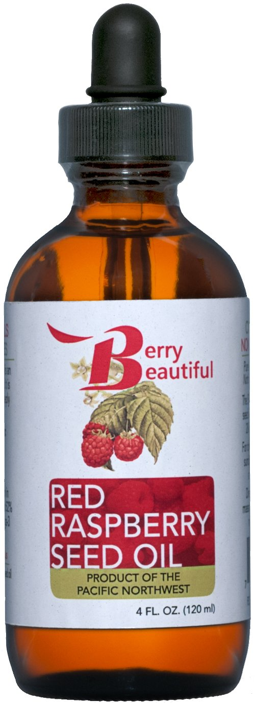 Red Raspberry Seed Oil – Cold Pressed by Berry Beautiful from locally grown Raspberries – 100 Pure Unrefined 4 fl oz