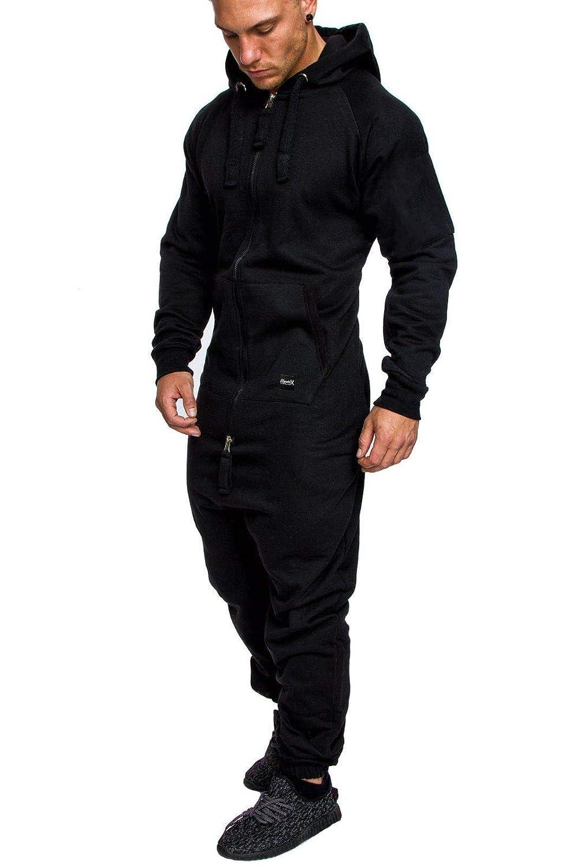 REPUBLIX Herren Overall Jumpsuit Jogging Cargo-Style Onesie Trainingsanzug Camouflage R-0026