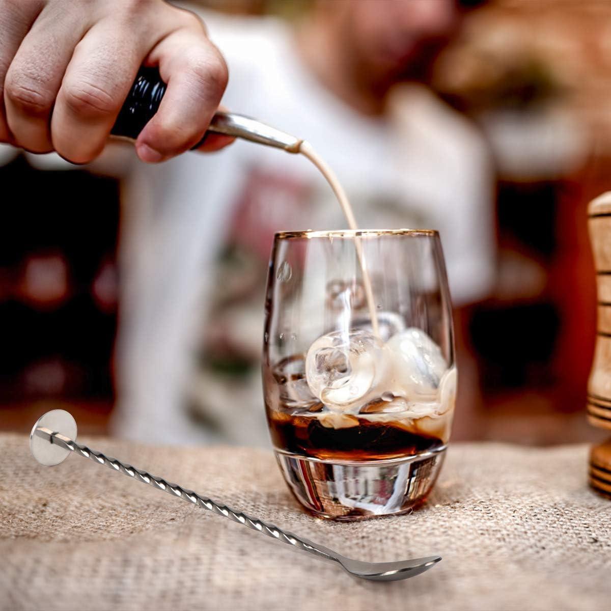 Philorn Coctelera Set de 5 Piezas 304 Acero Inoxidable Juego de Barras de Accesorios - Camareros Coctelera de 750ml Martini con Jigger de Medición, 2 ...