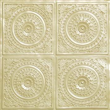 cheap plastic ceiling tile flat 117 creame pearl can be glue on clean flat