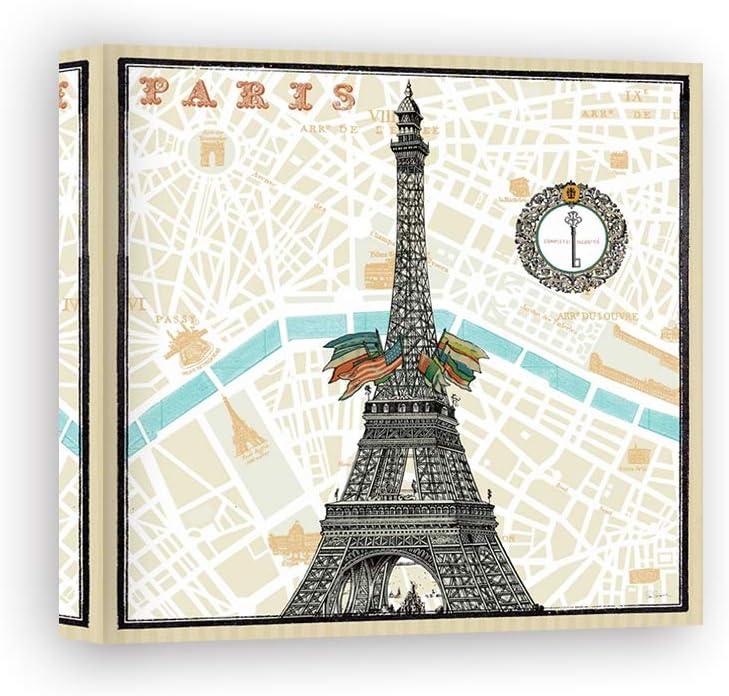 Impresión sobre Lienzo Wall Art Schlabach Sue Monuments Des Paris Eiffel: Amazon.es: Hogar