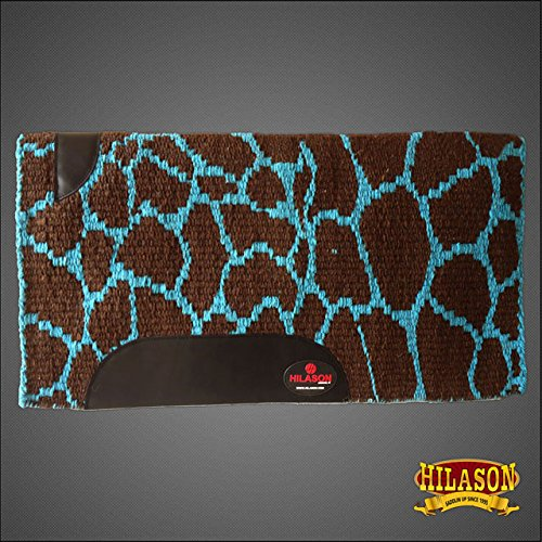 Hilason Show New Zealand Wool Saddle Blanket Pad Western Barrel Racing Rodeo (Wool Pad Western)