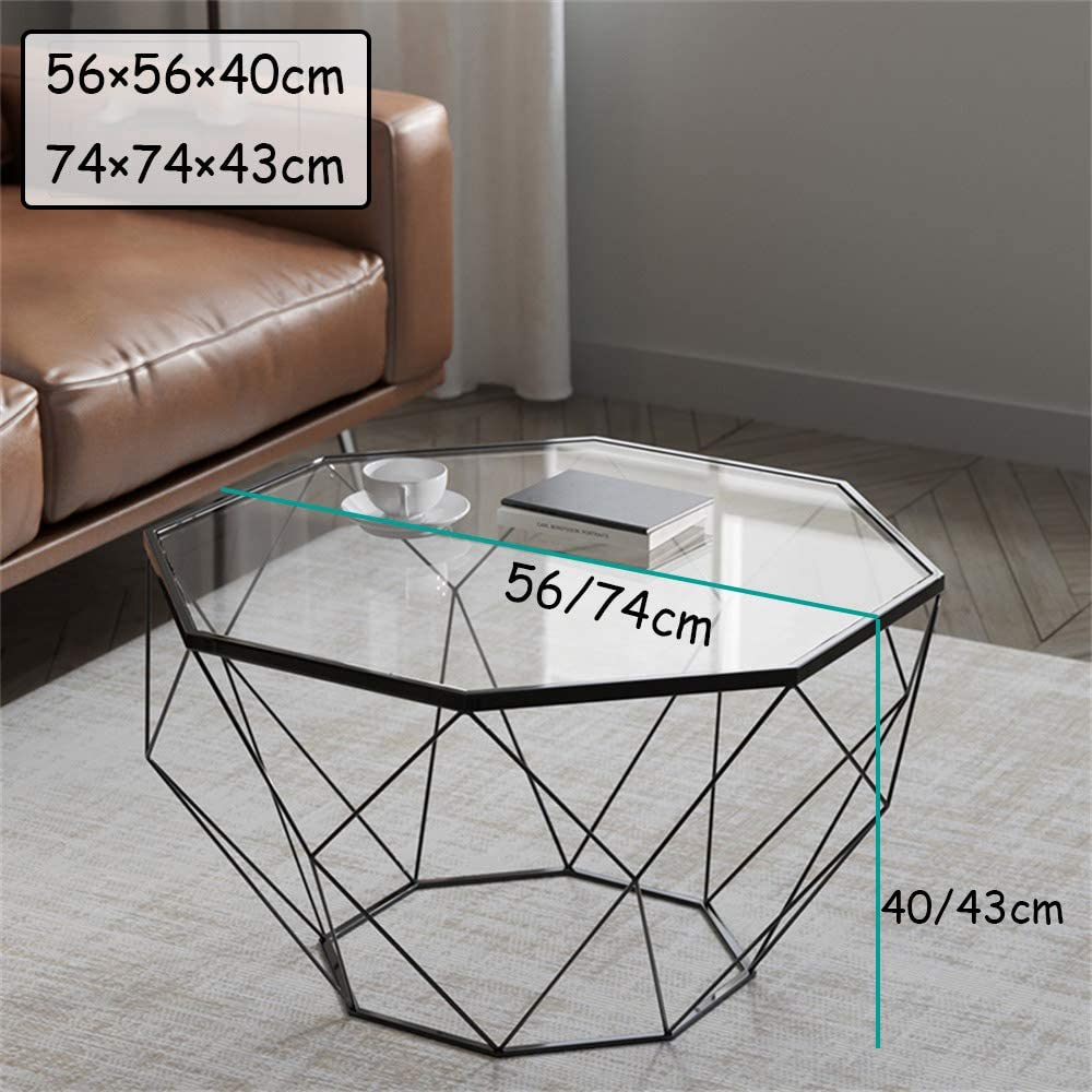 Amazon.com: KUKU-mesa de centro octogonal simple sala de ...