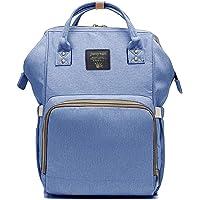 Mochila Pañalera Estilo Casual y Moderno, para Mujer, Mamá y Bebé, Dama de Moda Back Pack Bonita para Uso Diario (Azul Sereno)