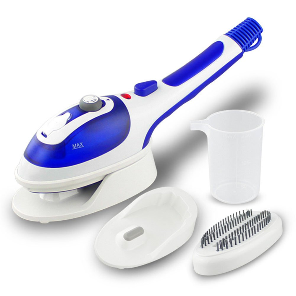 Emo Handheld Steam Iron Portable Steamer Clothes Travel Compact Fabric Steamer With Ultra-fast Heating Element For Home Travel Vertical White
