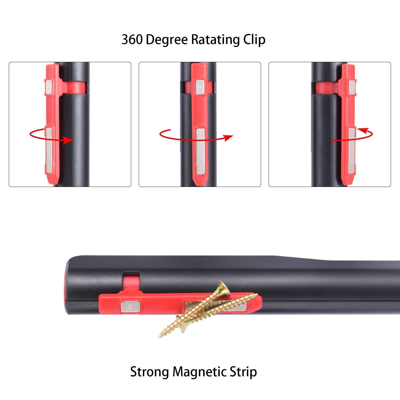 Linterna de trabajo LED recargable COB Linterna trabajo l/ámpara de inspecci/ón 2 en 1 Luz de trabajo recargable con clip magn/ético para Taller Hogar Camping Senderismo Uso de emergencia.