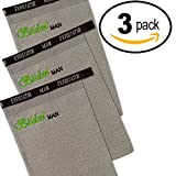 Acne Scar Treatment 3 Pack for Men. Deep Exfoliation Mitt & Collagen Producing Massage Glove to Scrub Away Dead Skin Build-up and Help With Pitted & Keloid Scars. Removes Blemishes Too.