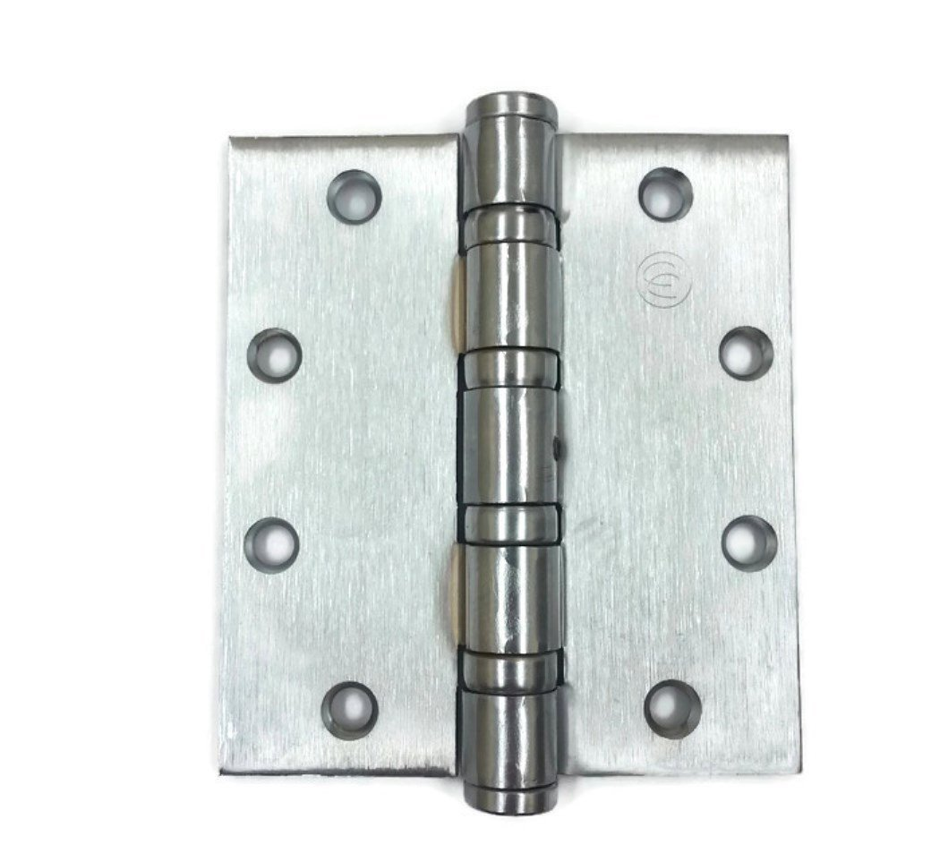 Hager Ecco Full Mortise Steel Hinge ECBB1102 NRP 5.0 x 4.5 US26D/652 (Satin Chrome) - Box of 3 Heavy Weight Ball Bearing hinges by HAGER Companies