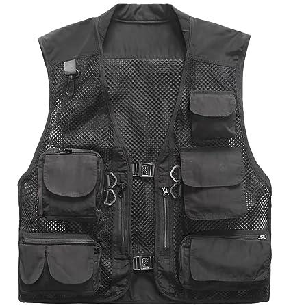 22b6449e0da9b Outdoor Quick-Dry Fishing Vest; Marsway Multi Pockets Mesh Vest Fishing  Hunting Waistcoat Travel