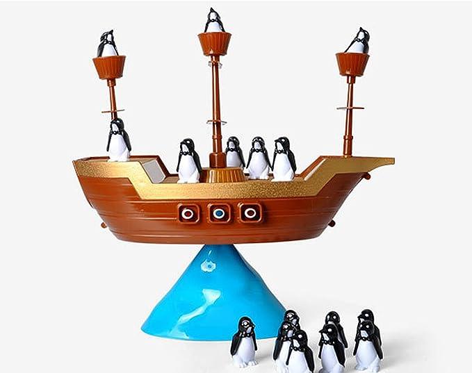 Juguete Juego de Mesa Equilibrio Barco Pirata del Pingüino Diversión Plástico Niños Familiar: Amazon.es: Juguetes y juegos