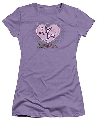 0c363cdd1 Amazon.com: A&E Designs Juniors I Love Lucy T-shirt Christmas Logo ...