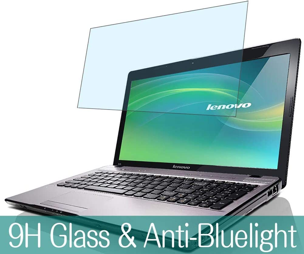 "Synvy Anti Blue Light Tempered Glass Screen Protector for Lenovo ideapad Z575 15.6"" Visible Area 9H Protective Screen Film Protectors"