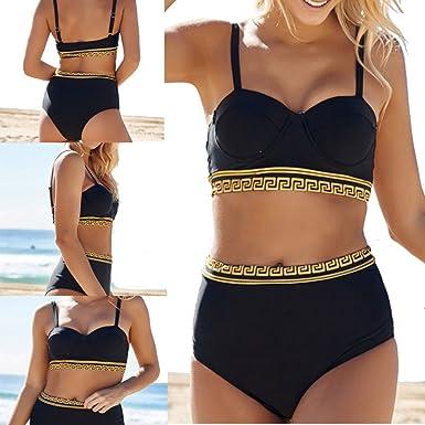 Black bikini and Gold