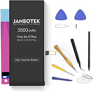 JANBOTEK Replacement Battery for iPhone 6 Plus, 3500mAh High Capacity Li-ion Battery with Repair Tool Kit-Included 24 Months Assurance