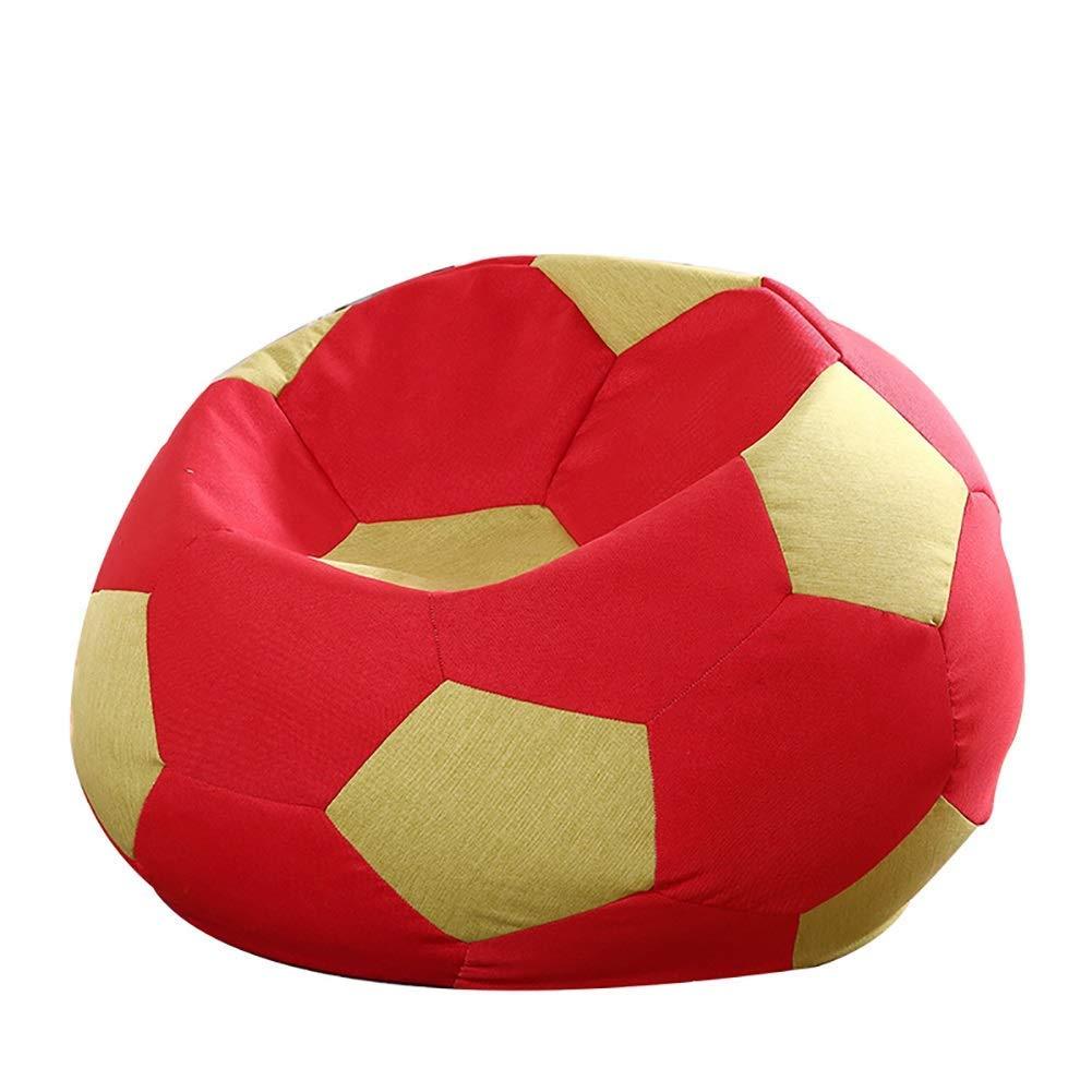 E 100 x 100cm Lazy Sofa, Lazy Floor Chair Football Bean Bag Chair Bedroom Living Room Creative Single Lazy Sofa Balcony Recliner Washable (color   D, Size   80x80cm)