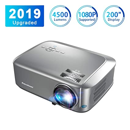 Excelvan Projector 1280*800 Resolution 4500lumens Support videos red-blue  3D 1080P HDMI VGA Interfaces USB Red dust-proof available Home Theater