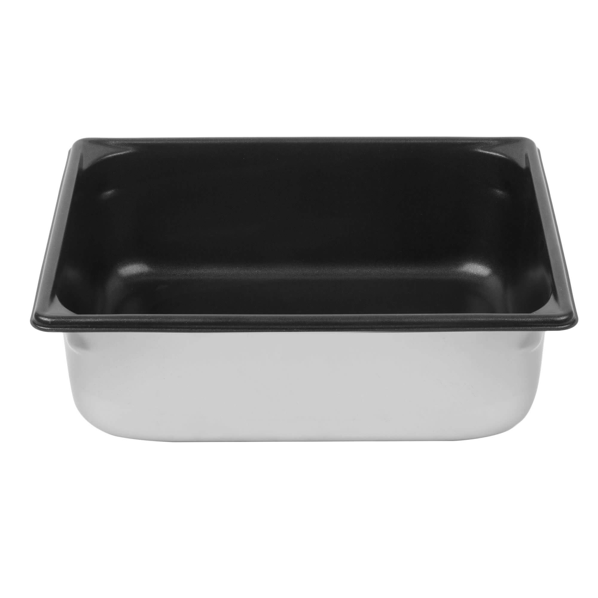 TableTop King 70242 Super Pan V 1/2 Size Anti-Jam Stainless Steel SteelCoat x3 Non-Stick Steam Table/Hotel Pan - 4'' Deep by TableTop King
