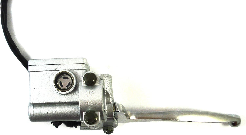 Hmparts Quad Dirt Bike Pit Bike Handbremszylinder Bremspumpe 10mm Typ 6 Rechts Silber Auto