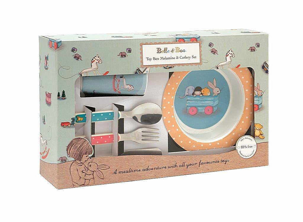 Belle & Boo 6 Piece Melamine Dinner Set - Toy Box Elite Tins
