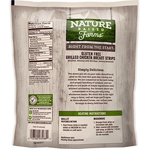 NatureRaised Farms Gluten-Free Grilled Chicken Breast Strips, 12 oz   (Frozen)