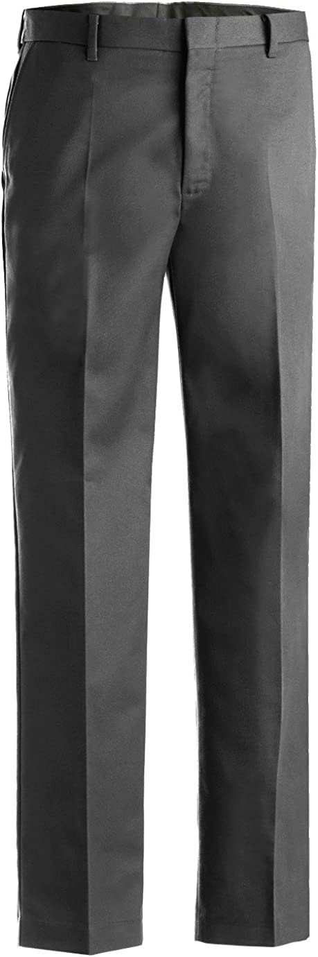 Dark Grey Edwards Garment Mens Business Casual Flat Front Pant 32 UR