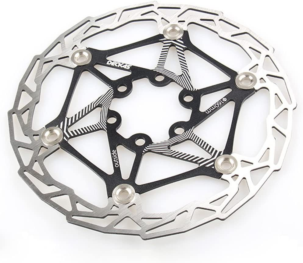 Gymforward Stainless Steel Floating Bicycle Disc Brake 160MM Bike Rotor Mountain Cycling Part with Bolts