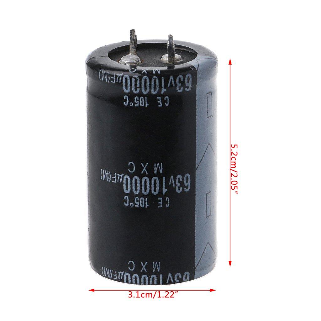Yintiod 63V 10000UF Condensatori elettrolitici a Lunga Durata ad Alta frequenza