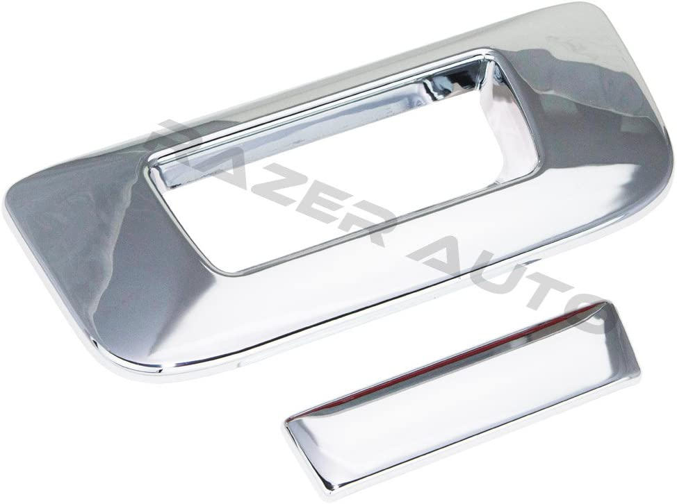 07-13 CHEVY SILVERADO FULL MIRROR+TAILGATE WITH KEYHOLE CHROME COVERS