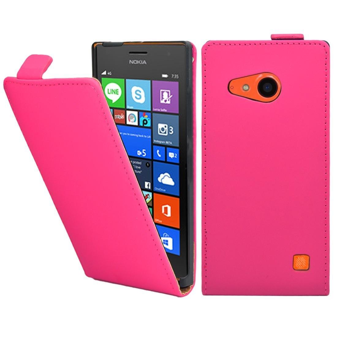 Nokia Lumia 735 Case Thinkmobile Pink Pu Leather Asha 501 Dual Sim Resmi Cyan Electronics