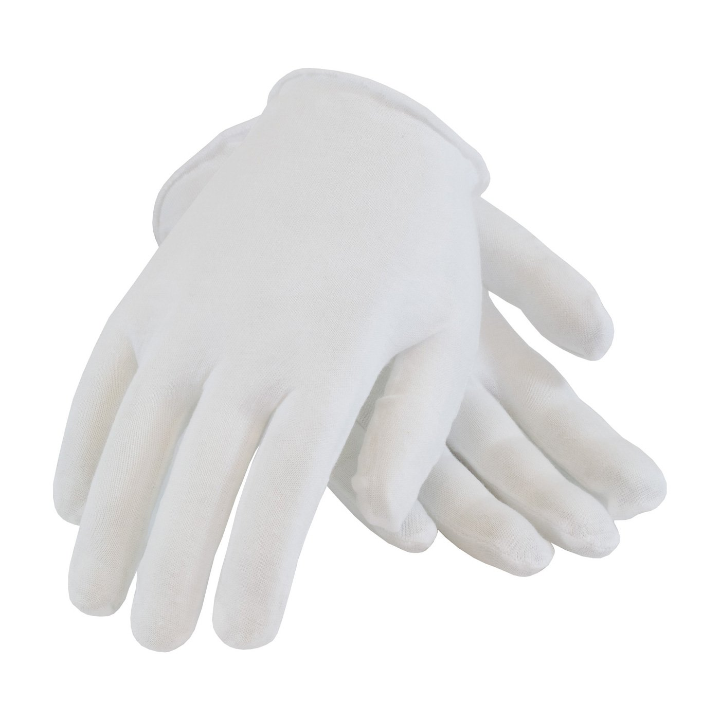 CleanTeam 97-501 Premium, Light Weight Cotton Lisle Inspection Glove with Unhemmed Cuff, Ladies