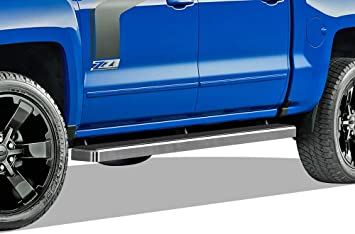 APS Premium 6 Black iBoard Running Boards Fit 07-19 Silverado//Sierra Double Cab