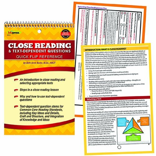 (Quick Flip Guide to Close Reading and Text Dependent Questions)