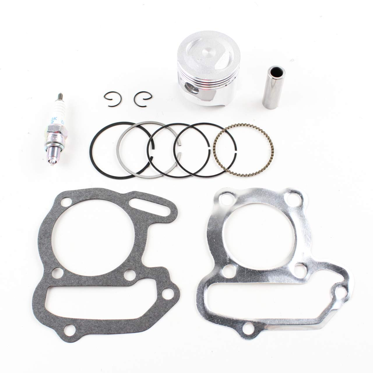 Standard Piston Gasket Ring & SPark Plug Kit 1985-2008 Yamaha Grizzly Badger Raptor 80 Moto 4 YFM80