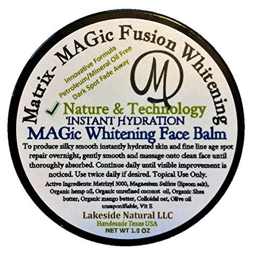 Matrix - MAGic Skin Brightening Face Balm Cream with Matrixyl 3000 and Magnesium Sulfate (Epsom Salt). All Natural Therapy for Mature Skin with Uneven Tone and Age Spots - Free Jar of Target Treatment