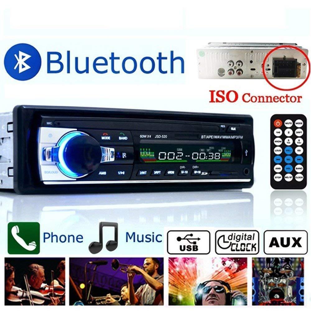 Boom Boost Car stereo 12V FM nella radio di deviazione standard 1 radio di deviazione standard SD / USB AUX Bluetooth Handsfree autoradio Boomboost