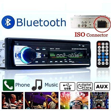 Boom Boost estéreo de coche 12V FM en la radio de la rociada 1 DIN SD