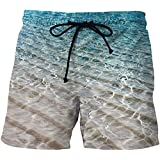 OUOK Men Mesh Shorts Outwear Swimming Trunks Colorful Space Tiger Male Shorts Quick Dry Surf Beach Short Pants