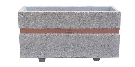 Fioriera In Cemento Vasi Inerti A Vista Misura 100x40 H55 Cm